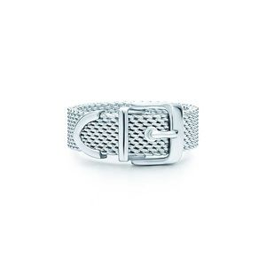 tiffany & co mesh belt ring